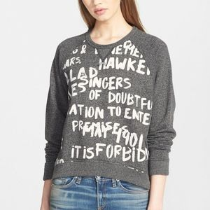Rag & Bone Graffiti Sweatshirt in Heather Gray
